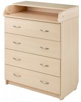Пеленальный комод Babyroom Комод 4 тел.Big 102x80x50  дуб молочный. 34504