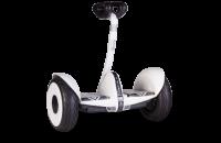 Гироскутер с ручкой для детей и взрослых SNS M1Robot mini (54v) - 10,5 дюймов (Music Edition) White (Белый). 31200