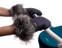 Рукавицы для коляски Bair Northmuff  темно-синий. 34663