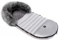 Зимний детский конверт Bair Polar premium  серый - серебро кожа. 31355