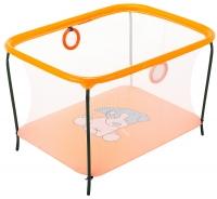 Манеж Qvatro LUX-02 мелкая сетка  оранжевый (dog). 34223
