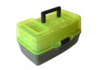 Ящик для снастей MHz AQT-1703T трехъярусный, с прозрачной крышкой, 36х21.5х19.5 см. 49196