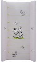 Пеленальный матрас Maltex мягкий 50х80 см  zebra, серый. 34515