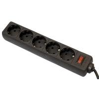 Сетевой фильтр питания Defender ES 3m 5 роз. black (99485). 46444