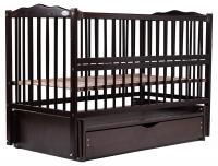 Кровать Babyroom Веселка маятник, ящик, откидной бок DVMYO-3  бук венге. 34046