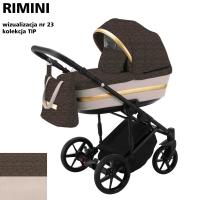 Детская коляска 2 в 1 с люлькой и прогулочная для новорожденных трансформер Adamex Rimini Tip RI-23. 31091