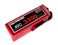 Аккумулятор AGA POWER Li-Pol 3300mAh 22.2V 6S 40C Softcase 41x44x134мм T-Plug. 30283
