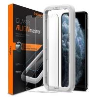 Стекло защитное Spigen iPhone 11 Pro Max/XS Max AlignMaster Glas tR, 2 pack (AGL00093). 45049