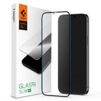Стекло защитное Spigen iPhone 12 Pro Max FC Black HD (1Pack) (AGL01468). 45051