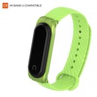 Ремешок для фитнес браслета Armorstandart Carbon Silicone Series для Xiaomi Mi Band 4/3 Green (ARM55021). 45622