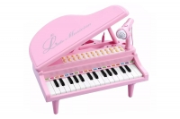 """Детское пианино на батарейках синтезатор Baoli """"Маленький музикант"""" с микрофоном 31 клавиша (розовый) 29868"""