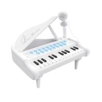 """Детское пианино на батарейках синтезатор Baoli """"Маленький музикант"""" с микрофоном 24 клавиши (белый) 29865"""