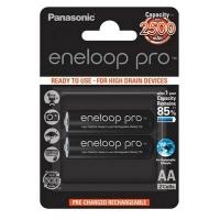 Аккумулятор Panasonic Eneloop Pro AA 2500mAh NI-MH * 2 (BK-3HCDE/2BE). 44658