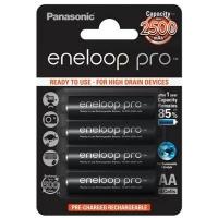Аккумулятор Panasonic Eneloop Pro AA 2500mAh NI-MH * 4 (BK-3HCDE/4BE). 44659