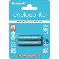 Аккумулятор Panasonic Eneloop Lite AAA 550mAh NI-MH * 2 (BK-4LCCE/2BE). 44656