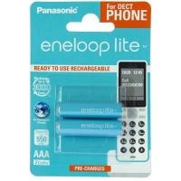 Аккумулятор Panasonic Eneloop Lite AAA 550mAh NI-MH Dect Series * 2 (BK-4LCCE/2DE). 44657