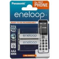 Аккумулятор Panasonic Eneloop AAA 750mAh NI-MH Dect Series * 2 (BK-4MCCE/2DE). 44654