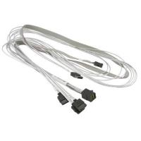 Кабель для передачи данных Supermicro (CBL-SAST-0556) MiniSAS HD (SFF-8643) to 4xSATA 0.9m w/Sideband. 44335