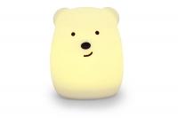 """Детский мягкий ночник-игрушка Click """"Hічні звірятка"""" Медведь 11 см 29982"""