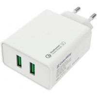 Зарядное устройство ColorWay 2USB Quick Charge 3.0 (36W) (CW-CHS017Q-WT). 44931