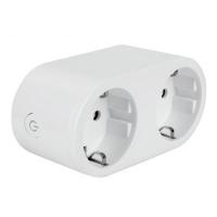 Умная розетка Colorway Wi-Fi розетка, расписание, таймер, мониторинг, двойная (CW-SP2B-PTM). 47787