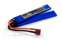 Аккумулятор полимерно-литиевый для страйкбола Giant Power (Dinogy) Li-Pol 7.4V 2S 1300mAh 25C 2 лепестка 6.5х21х130мм T-Plug 29843
