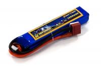Аккумулятор полимерно-литиевый для страйкбола Giant Power (Dinogy) Li-Pol 7.4V 2S 1300mAh 25C 16х20х103мм T-Plug 29841