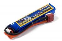 Аккумулятор полимерно-литиевый для страйкбола Giant Power (Dinogy) Li-Pol 7.4V 2S 1300mAh 25C 17х18.5х95мм T-Plug 29842