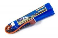 Аккумулятор полимерно-литиевый для страйкбола Giant Power (Dinogy) Li-Pol 7.4V 2S 2000mAh 25C 2 лепестка 10.5х21х126мм T-Plug 29847