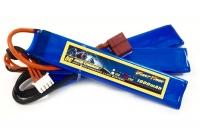 Аккумулятор полимерно-литиевый для страйкбола Giant Power (Dinogy) Li-Pol 11.1V 3S 1000mAh 25C 3 лепестка 5.5х20х103мм T-Plug 29829