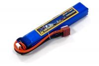 Аккумулятор полимерно-литиевый для страйкбола Giant Power (Dinogy) Li-Pol 11.1V 3S 1300mAh 25C 18х21х130мм T-Plug 29831
