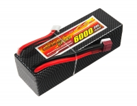 Аккумулятор полимерно-литиевый Dinogy Li-Pol 6000mAh 14.8V 4S 30C Hardcase 41x40x138мм T-Plug 29788