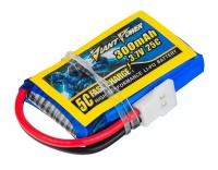 Аккумулятор полимерно-литиевый Giant Power (Dinogy) Li-Pol 300mAh 3.7V 1S 25C 8x20x32мм для Walkera/Hubsan 29817