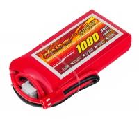 Аккумулятор полимерно-литиевый Dinogy Li-Pol 1000mAh 7.4V 2S 30C 14x35x68мм JST 29756