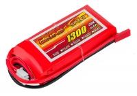 Аккумулятор полимерно-литиевый Dinogy Li-Pol 1300mAh 7.4V 2S 30C 17x35x73мм JST 29761