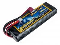 Аккумулятор полимерно-литиевый Giant Power (Dinogy) Li-Pol 2600mAh 7.4V 2S 35C Hardcase 25x46x138мм T-Plug 29815