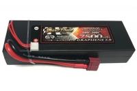 Аккумулятор полимерно-литиевый Giant Power (Dinogy) G2.0 Li-Pol 7500mAh 7.4V 2S 100C Hardcase 25x46x139 T-Plug 29809