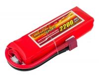 Аккумулятор полимерно-литиевый Dinogy Li-Pol 2200mAh 11.1V 3S 30C 22x36x110мм T-Plug 29767