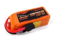 Аккумулятор полимерно-литиевый Dinogy ULTRA G2.0 Li-Pol 1000mAh 14.8V 4S 80C XT60 76x27x34мм 29803