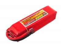 Аккумулятор полимерно-литиевый Dinogy Li-Pol 6000mAh 14.8V 4S 30C 40x41x162мм T-Plug 29787