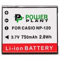Аккумулятор к фото/видео PowerPlant Casio NP-120 (DV00DV1312). 44596