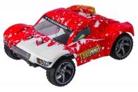 Машинка на радиоуправлении вездеход джип модель Шорт 1:18 Himoto Tyronno E18SC Brushed (красный) 29657