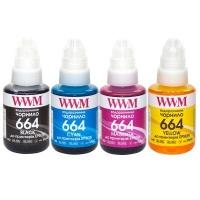 Чернила WWM Epson L110/L210/L300, 4х140г B/C/M/Y (E664SET4). 43981