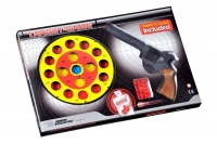 Игрушечный пистолет с мягкими пулями с мишенью Edison Giocattoli Target Game 28см 8-зарядный (485/22) 29910