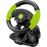 Руль Esperanza PC/PS3/XBOX 360 Black-Green (EG104). 44148