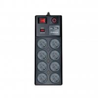 Сетевой фильтр питания REAL-EL RS-8F USB CHARGE 3m, black (EL122300004). 46430