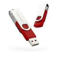 USB флеш накопитель eXceleram 32GB P1 Series Silver/Red USB 2.0 (EXP1U2SIRE32). 48143