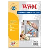 Бумага WWM A4 magnetic, glossy, 20л (G.MAG.20). 47203