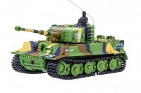 Танк микро со звуком на радиоуправлении модель 1:72 Tiger (хаки зеленый) 30151