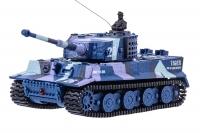 Танк микро со звуком на радиоуправлении модель 1:72 Tiger (хаки синий) 30153